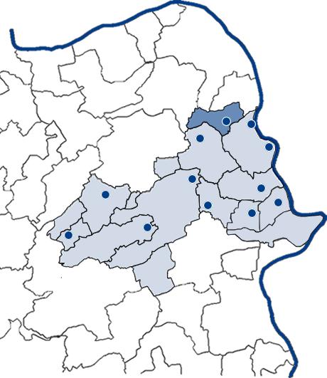 Karte zum Zuständigkeitsbereich des ZAR